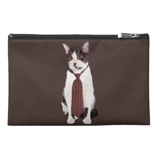 Cat With A Tie Travel Accessories Bags