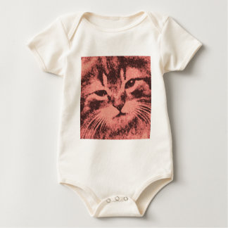 cat with an attitude baby bodysuit