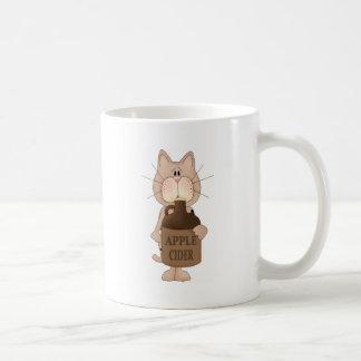 Cat with Apple cider Mugs