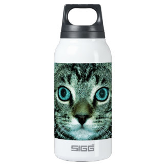 Cat with Aqua Eyes Customize pet house Eye Insulated Water Bottle
