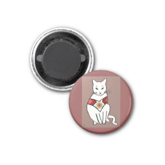 Cat with Aztec Design Magnet