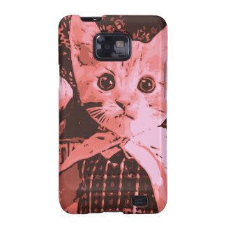 Cat with ball galaxy s2 cases