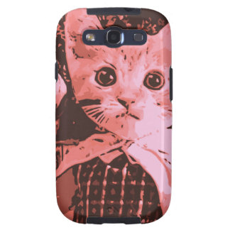 Cat with ball galaxy s3 cases
