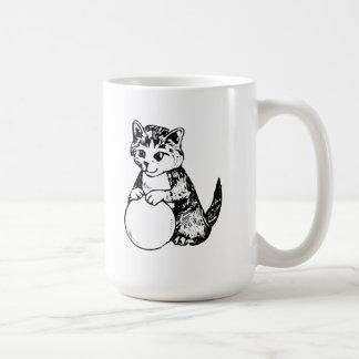 Cat with Ball of Yarn Mugs