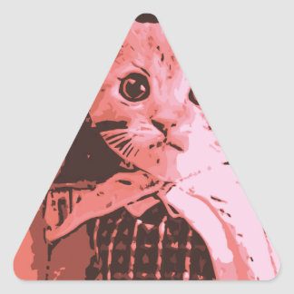 Cat with ball triangle sticker