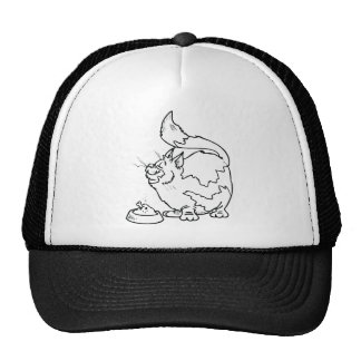 Cat with Bowl of Food Trucker Hat