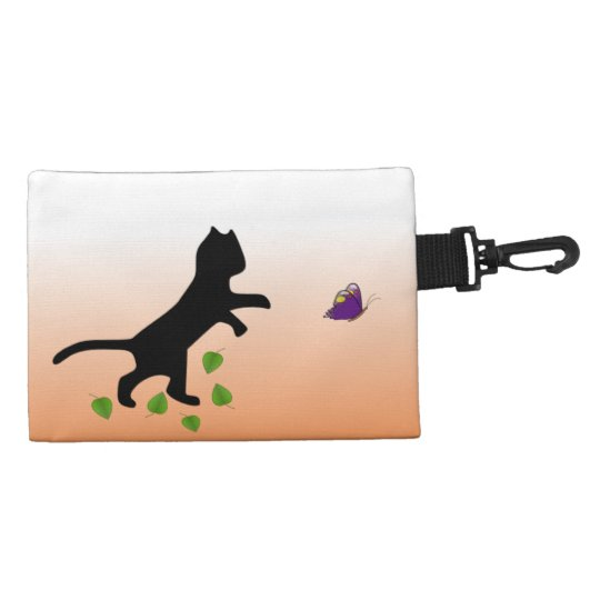Cat With Butterfly Accessories Bags