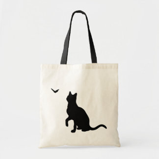 Cat with Butterfly Bag