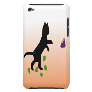 Cat With Butterfly Barely There iPod Case
