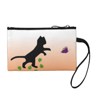 Cat With Butterfly Change Purse