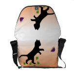 Cat With Butterfly Courier Bag