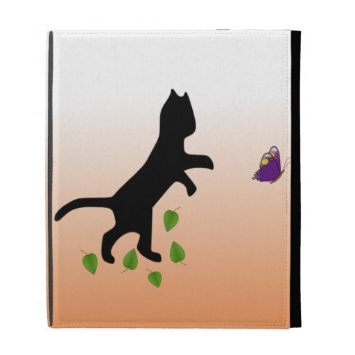 Cat With Butterfly iPad Folio Covers
