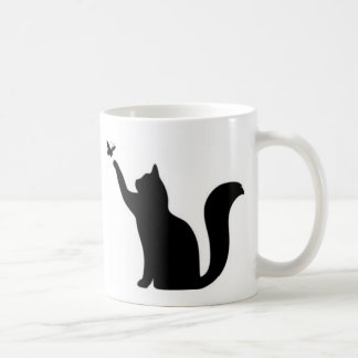 Cat with butterfly love cats coffee mug