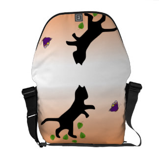 Cat With Butterfly Messenger Bag