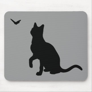 Cat with Butterfly Mousepad