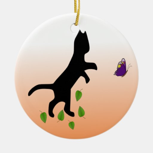 Cat With Butterfly Ornaments