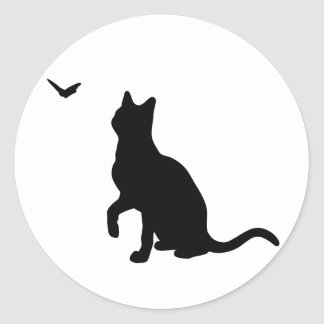 Cat with Butterfly Sticker
