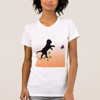Cat With Butterfly T-shirt