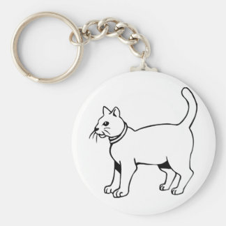 Cat with collar key chain
