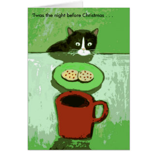Cat with Cookies Christmas Card