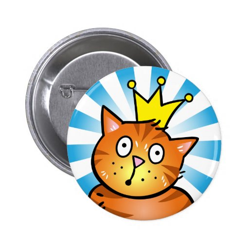 Cat with Crown - Button