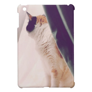 Cat with curtains iPad mini cover
