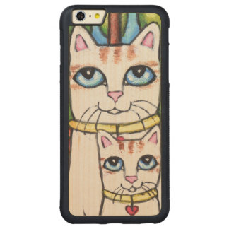 Cat With Cute Kitten iPhone Wood Case Carved® Maple iPhone 6 Plus Bumper