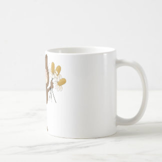 Cat with Daisies Classic White Coffee Mug
