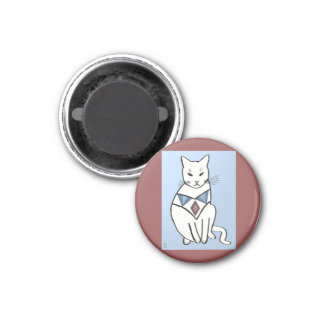 Cat with Diamond Collar Magnet