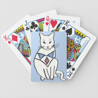 Cat with Diamond Collar Bicycle Playing Cards