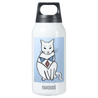 Cat with Diamond Collar Thermos Water Bottle