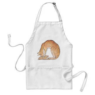 cat with fish adult apron