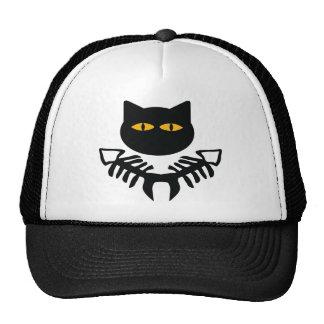 cat with fish bone icon hat