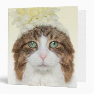 Cat With Flower Hat Binder
