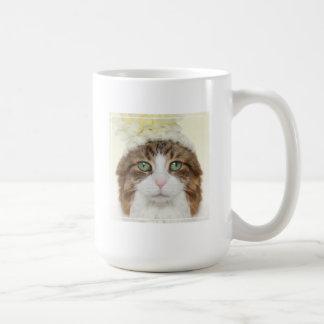 Cat With Flower Hat Coffee Mug
