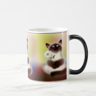 Cat With Flower Magic Mug