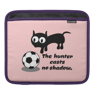 Cat with football iPad sleeve
