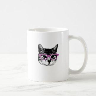 Cat with Glasses Coffee Mug
