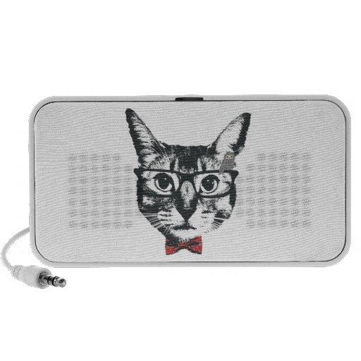 Cat with glasses speaker