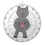 Cat with Heart Dartboard