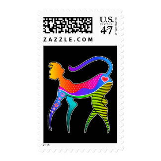 CAT with HEART POSTAGE