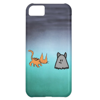 Cat With His Ghost Friend Case For iPhone 5C