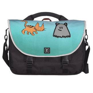 Cat With His Ghost Friend Commuter Bag