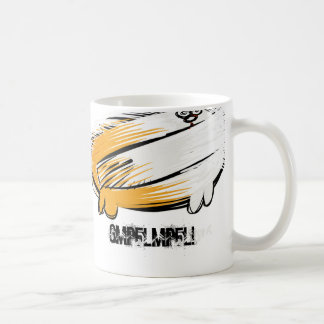 cat with it's tail on backwards coffee mug