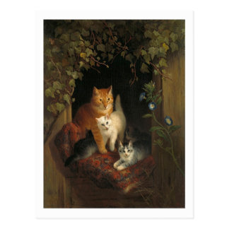 Cat with Kittens by Henriette Ronner-Knip Postcard