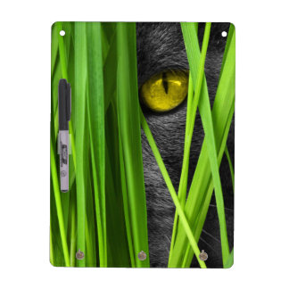 Cat with Leaf and Special Eyes Dry Erase Board