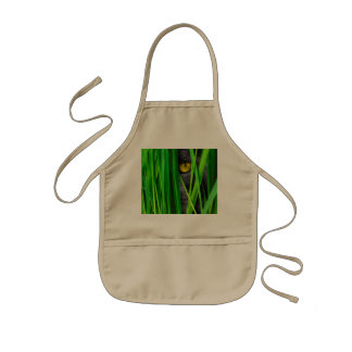 Cat with Leaf and Special Eyes Kids' Apron