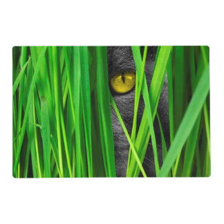 Cat with Leaf and Special Eyes Placemat