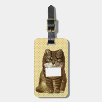 Cat with Name Tag Travel Bag Tags