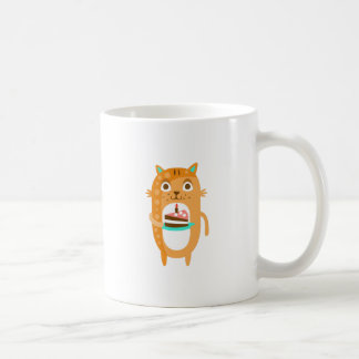 Cat With Party Attributes Girly Stylized Funky Sti Coffee Mug